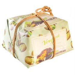 Panettone with Pistachio Cream & Dark Chocolate | Vergani | Buy Online | Italian Christmas Food | UK